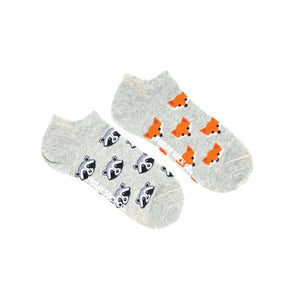 Women's Fox & Raccoon Ankle Socks