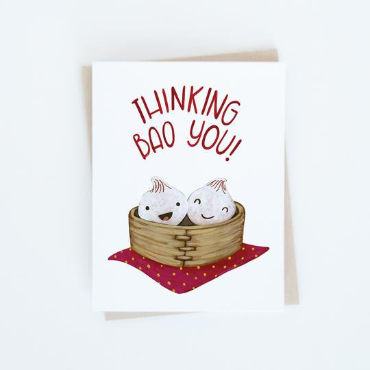 Thinking Bao You Card