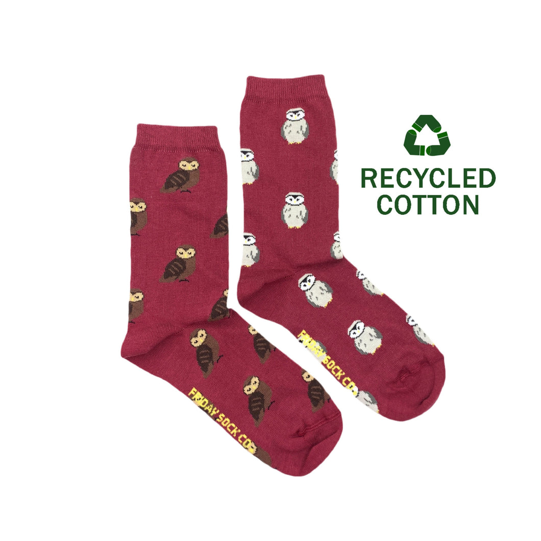 Women's Recycled Cotton Owl Socks