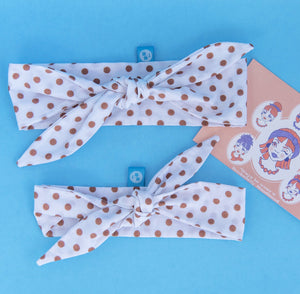 Rockabilly Headband: Brown Polka Dots