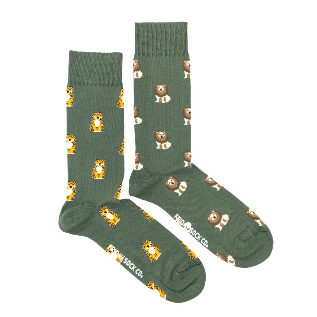 Men's Lion & Tiger Socks