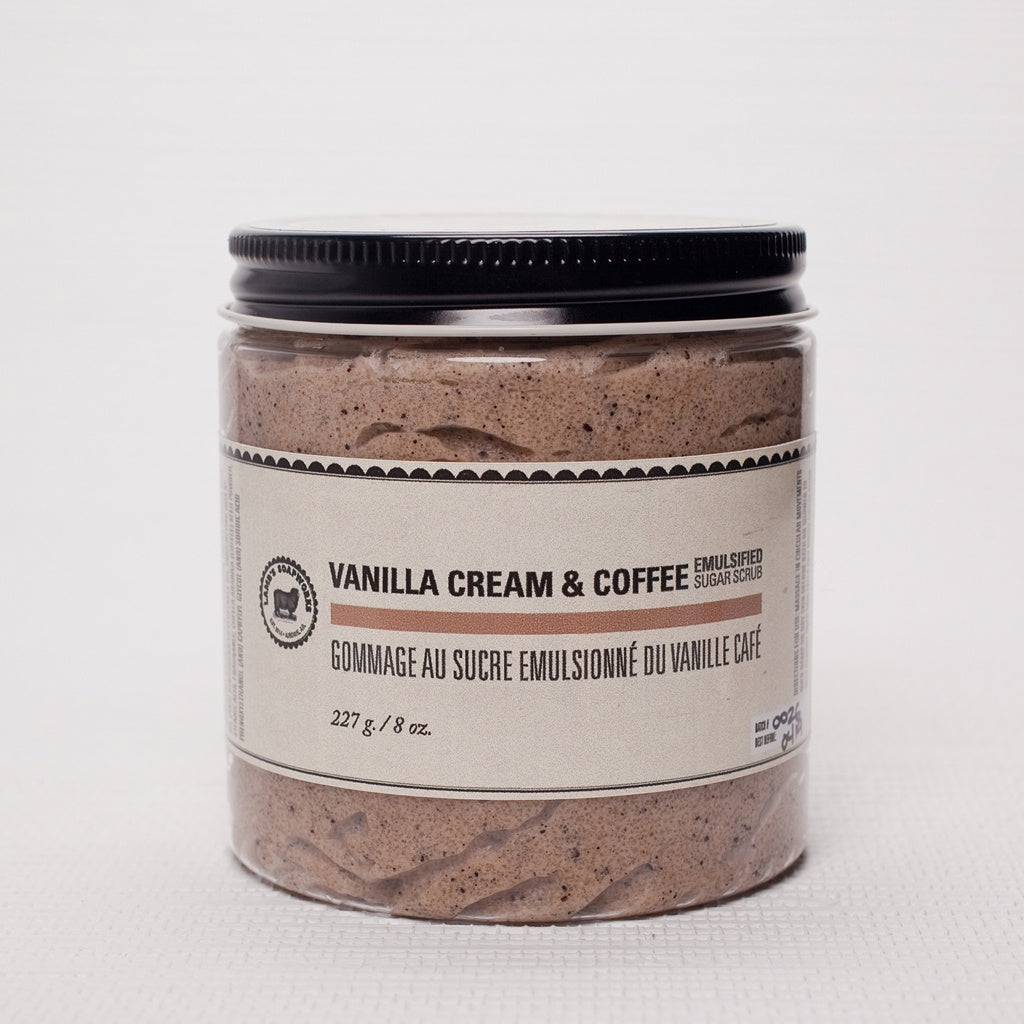 Vanilla Cream & Coffee Emulsified Sugar Scrub
