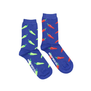 Women's Green and Red Chili Pepper Socks