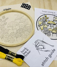 Load image into Gallery viewer, Fungus Among Us Completed Embroidery Kit