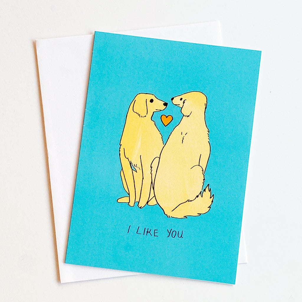 I Like You (Blue) Card