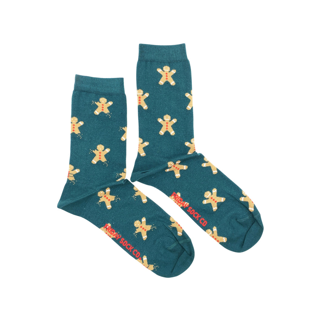 Women's Ugly Christmas Gingerbread Cookie Socks