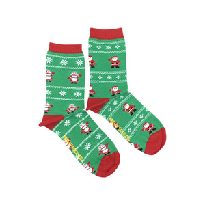 Women's Ugly Christmas Mr. & Mrs. Clause Socks