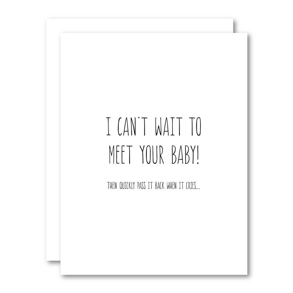 I Can't Wait To Meet Your Baby Card