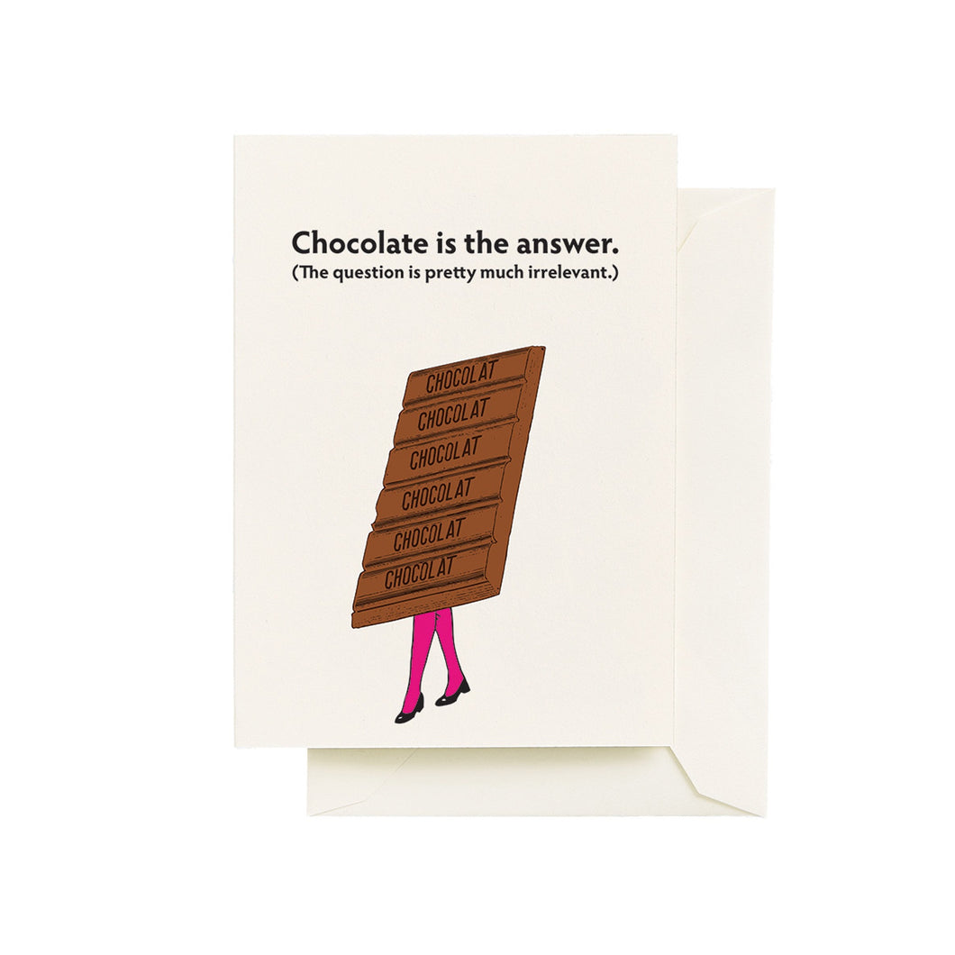 Chocolate Is The Answer Card