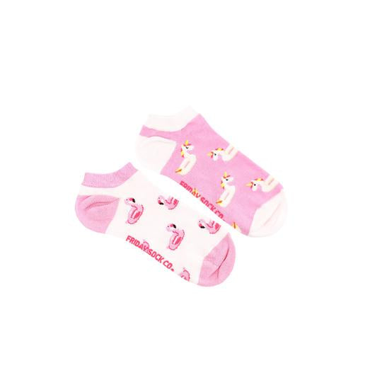 Women's Unicorn & Flamingo Pool Floaty Ankle Socks