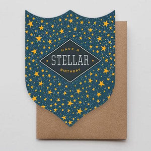 Stellar Birthday Badge Card