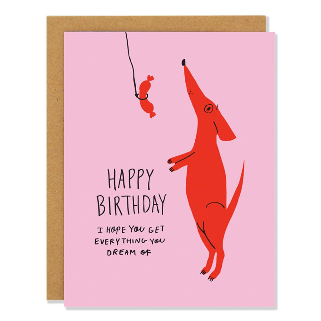 Dog Dreams Birthday Card