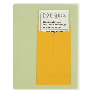 New Parents Pop Quiz Card