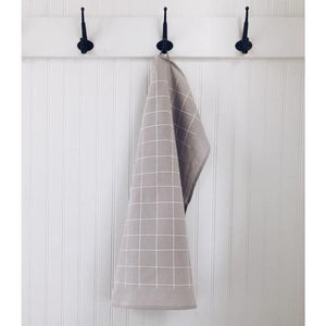 Grey Grid Tea Towel