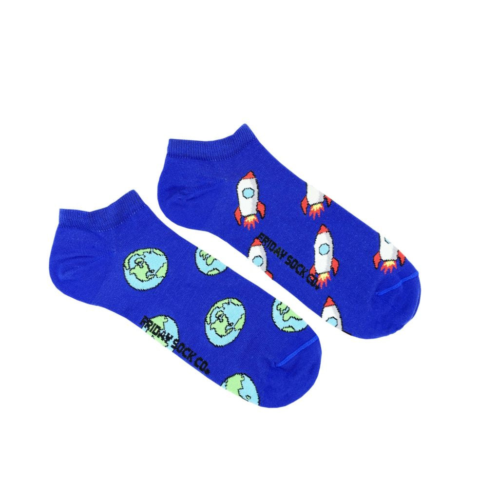 Men's Rocket & Earth Ankle Space Socks