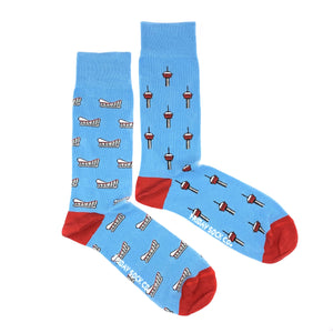 Men's Calgary Tower & Calgary Saddledome Socks