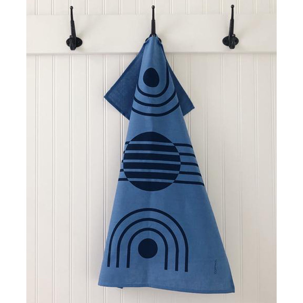 Blue Arc Tea Towel