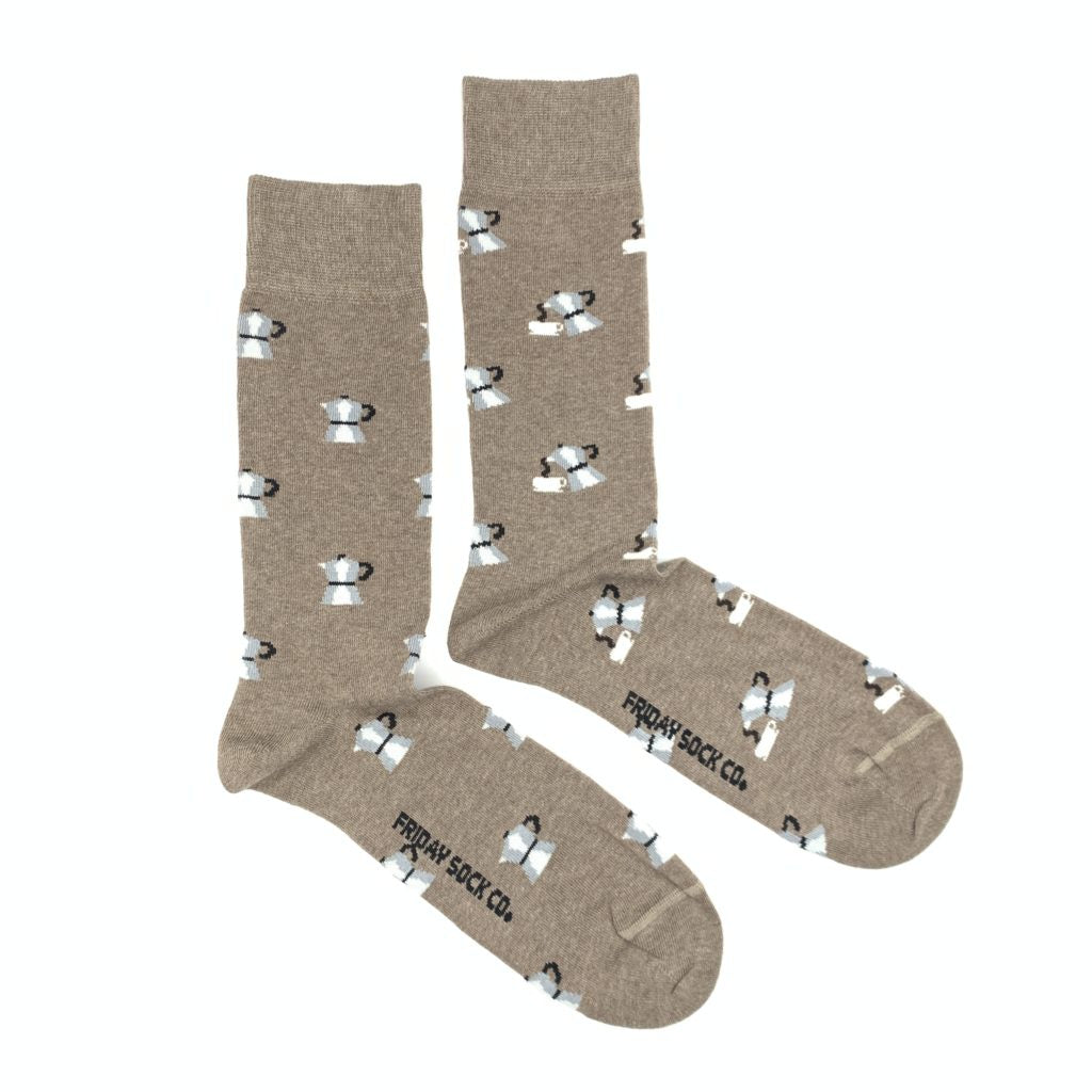 Men's Moka Pot Coffee Socks