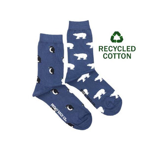 Women's Recycled Cotton Polar Bear & Penguin Socks