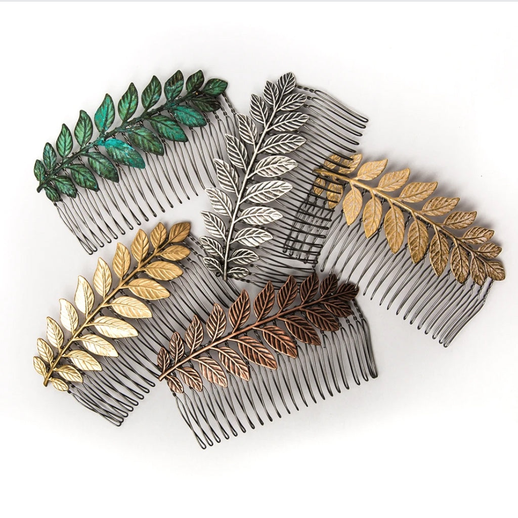 Large Leaf Hair Comb