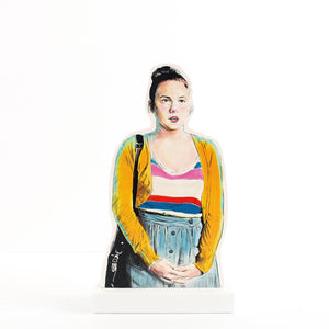 GIRLS ~ Lena Dunham ~ Hannah Horvath Illustrated Portrait Wood Standee