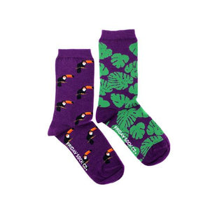 Women's Toucan & Monstera Socks