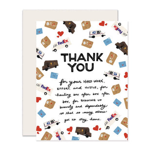 Mail & Delivery Thank You Card