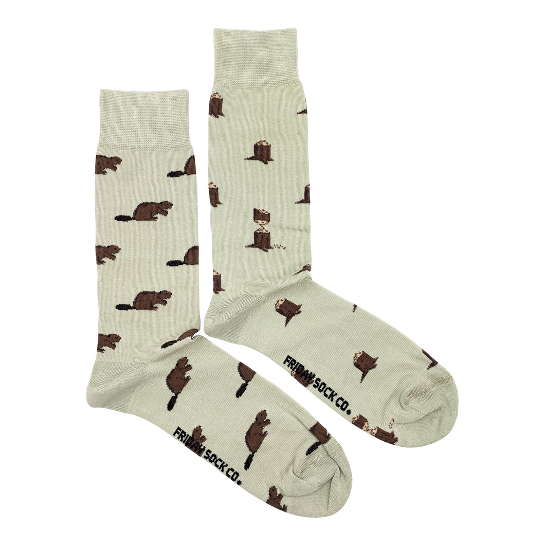 Men's Beaver & Log Socks