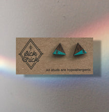 Load image into Gallery viewer, Earrings Triangles w trees