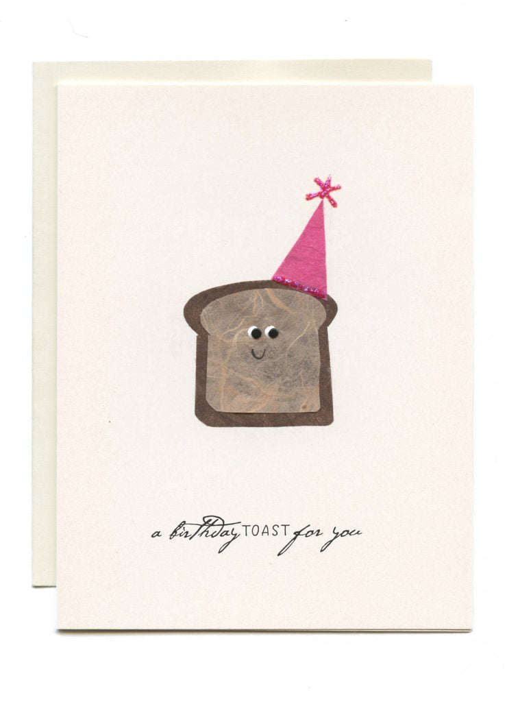 HAPPY TOAST WITH PARTY HAT
