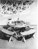 Round Picnic Table Set