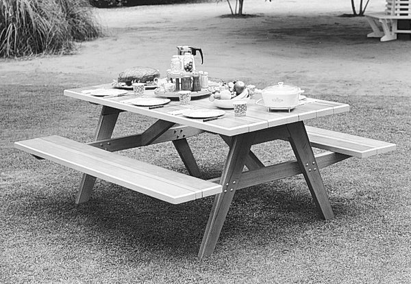 Rectangular Picnic Table Set