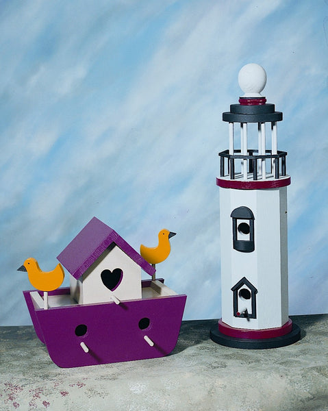 Ark & Lighthouse Birdhouses
