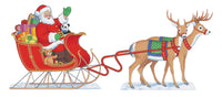 Santa, Sleigh and Two Reindeer