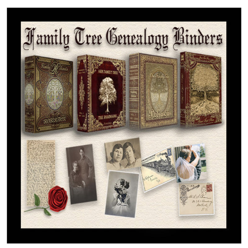 Family Tree Antique Look Vintage Binders