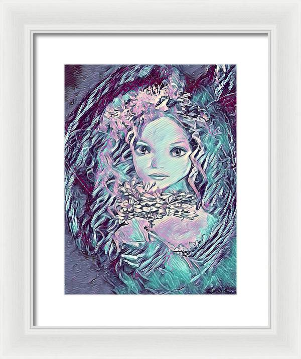 Blue Fairy Princess - Framed Print