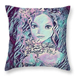 Blue Fairy Princess - Throw Pillow