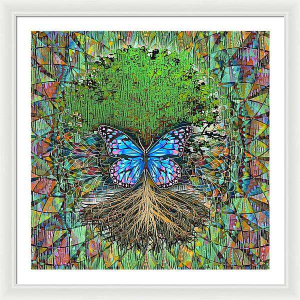 Butterfly Tree - Framed Print