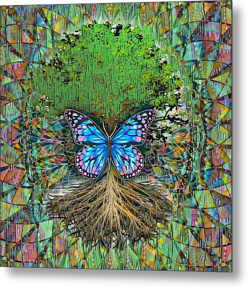 Butterfly Tree - Metal Print