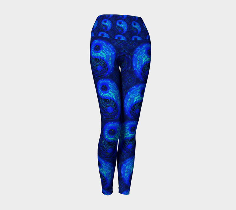 Blue Yoga Yin Yang Leggings