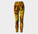 Orange Tiger Abstract Yoga Leggings