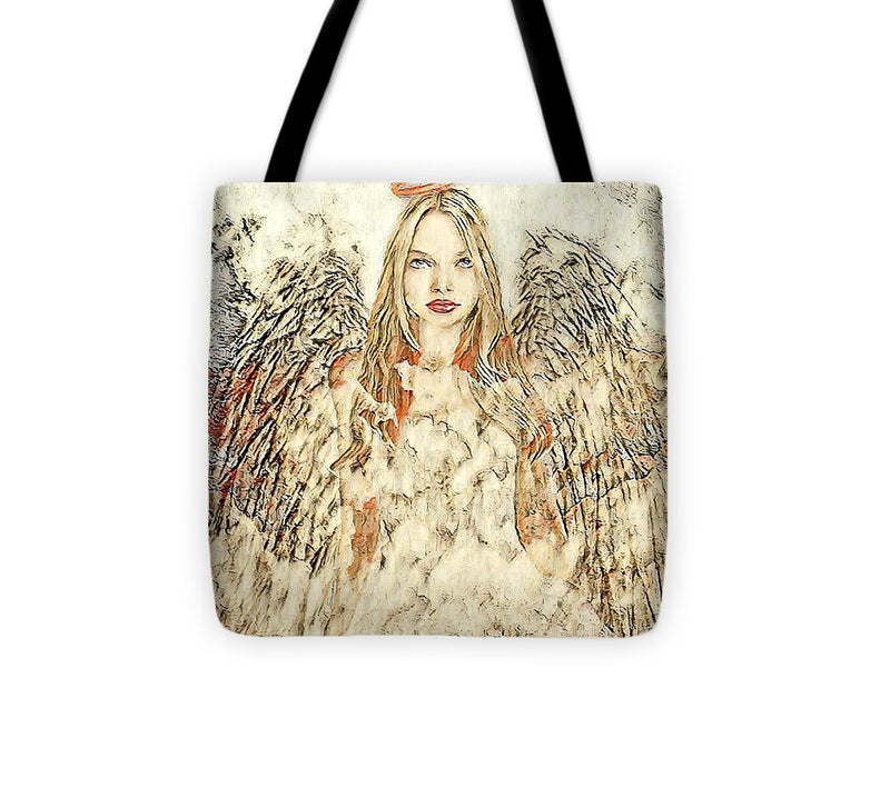 Angel in the Clouds Abstract - Tote Bag