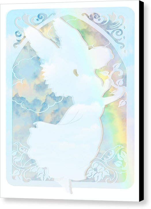 Angel Silhouette - Canvas Print