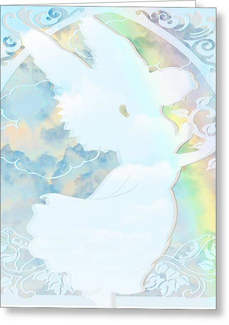 Angel Silhouette - Greeting Card