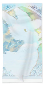 Angel Silhouette - Bath Towel
