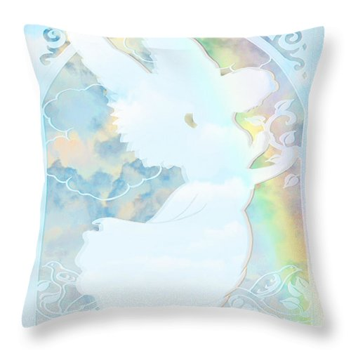 Angel Silhouette - Throw Pillow