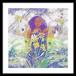 Angel with Daisies - Framed Print