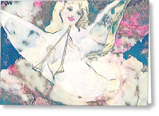 Angel with Trumpet - Greeting Card