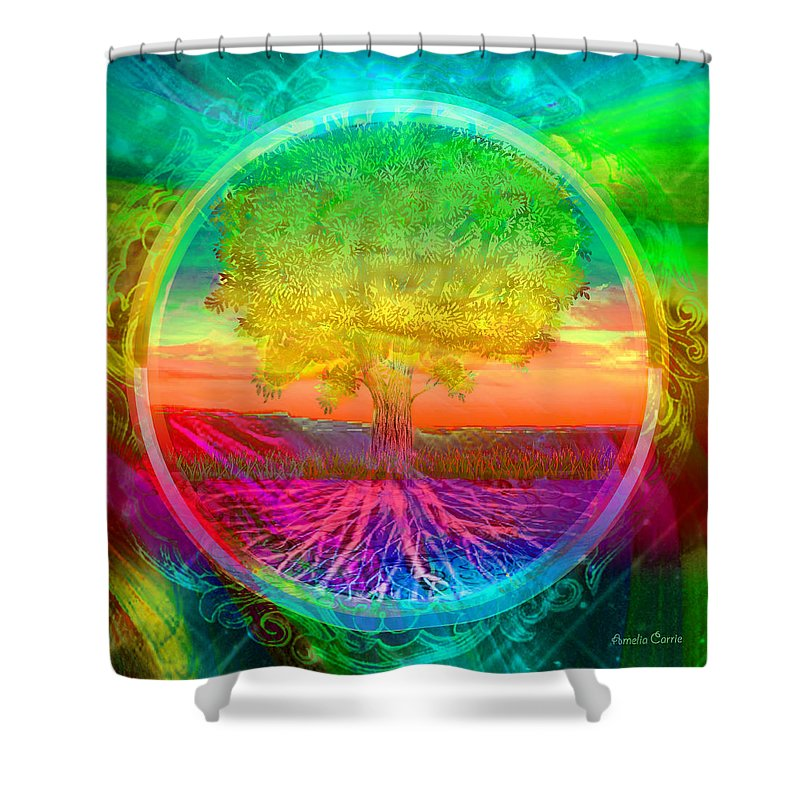 Tree of Life Blessings - Shower Curtain