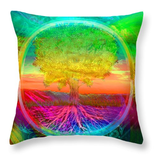 Tree of Life Blessings - Throw Pillow